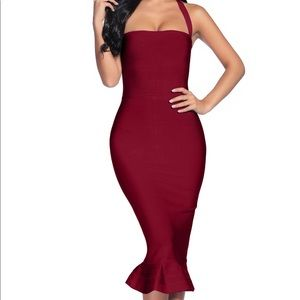 Sexy Bandage Halter Dress S
